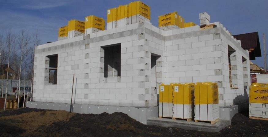 строим дом из газобетонных блоков в Сибири