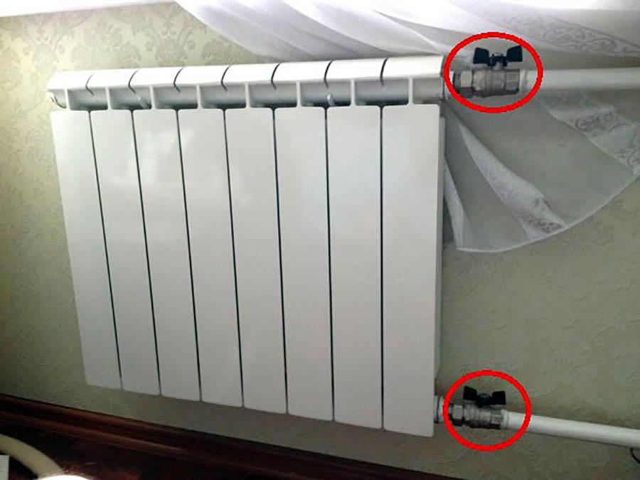 вентиль батареи отопления